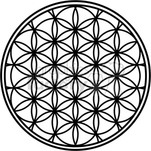flower of life clipart. Commercial use image # 384861
