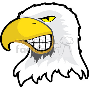 Eagle Mascot Showing Teeth clipart. Commercial use image # 384871