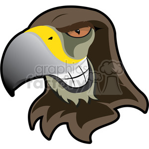 hawk mascot showing teeth clipart. Commercial use image # 384891