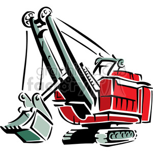 red tractor clipart. Royalty-free image # 384903