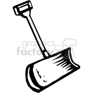 black and white snow shovel clipart. Commercial use image # 384913