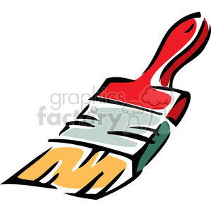 cartoon paintbrush clipart. Royalty-free image # 384923