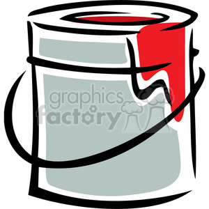 paint can with red paint dripping clipart. Commercial use image # 384963