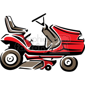 Red Riding Lawnmower Clipart Royalty Free Clipart 384993