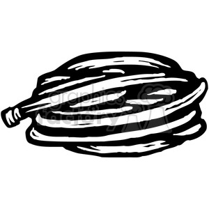 black and white garden hose clipart. Royalty-free image # 385013