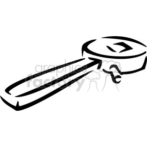 black and white wrench clipart. Commercial use image # 385033