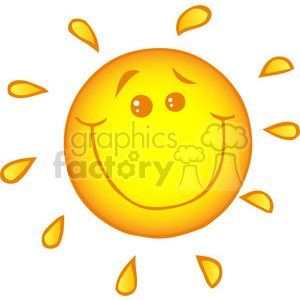12892 RF Clipart Illustration Smiling Sun Cartoon Character clipart. Royalty-free image # 385133