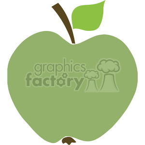 12916 RF Clipart Illustration Green Apple clipart. Royalty-free image # 385163