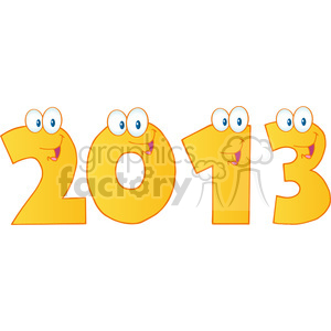 cartoon funny education school learning numbers character happy 2013 yellow