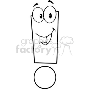 5037-Clipart-Illustration-of-Exclamation-Mark-Cartoon-Character clipart. Royalty-free image # 385283