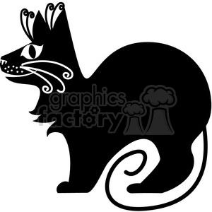 vector clip art illustration of black cat 071 animation. Royalty-free animation # 385303