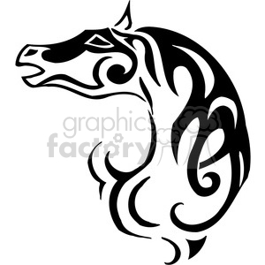 wild horse head clipart. Royalty-free image # 385453