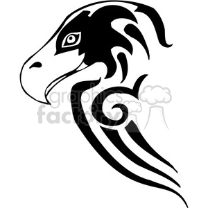 vector black+white animals wild outline vinyl-ready hawk bird tattoo