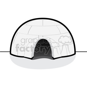 vector igloo 002 clipart. Royalty-free image # 385513