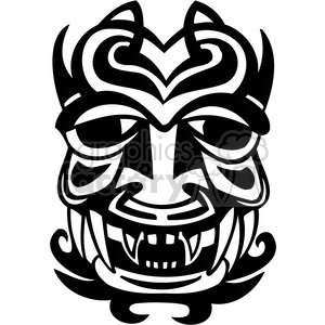 ancient tiki face masks clip art 035 clipart. Royalty-free image # 385820