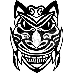 ancient tiki face masks clip art 048 clipart. Royalty-free image # 385838