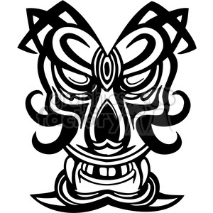 ancient tiki face masks clip art 019 clipart. Royalty-free image # 385847