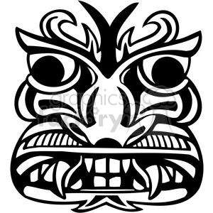 ancient tiki face masks clip art 040 clipart. Royalty-free image # 385857
