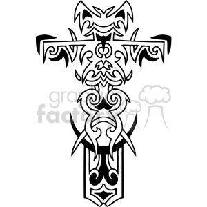 cross clip art tattoo illustrations 037 clipart. Royalty-free image # 385874