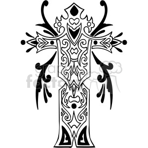 cross clip art tattoo illustrations 016 clipart. Royalty-free image # 385884