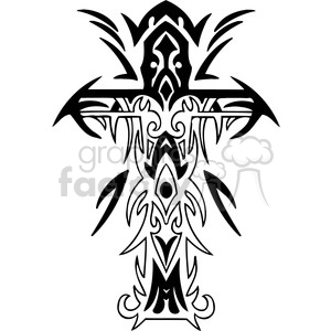 cross clip art tattoo illustrations 027 clipart. Commercial use image # 385894