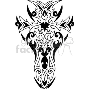 cross clip art tattoo illustrations 026