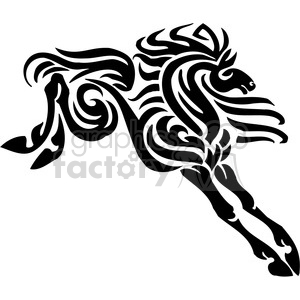 stylish horse design clipart. Royalty-free image # 385946