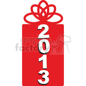 2013 New Year gift clipart. Commercial use image # 385966