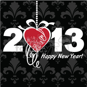 2013 new year black clipart. Commercial use image # 385976
