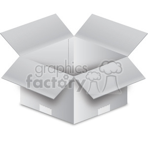 white open box clipart. Commercial use image # 385986