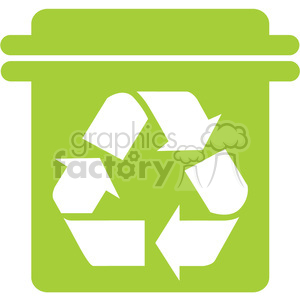 green recycle can clipart. Royalty-free image # 386078