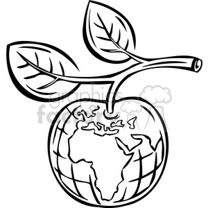 eco apple sustainable food 074 clipart. Royalty-free image # 386088