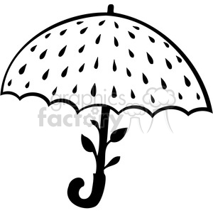 eco water umbrella 038 clipart. Commercial use image # 386168