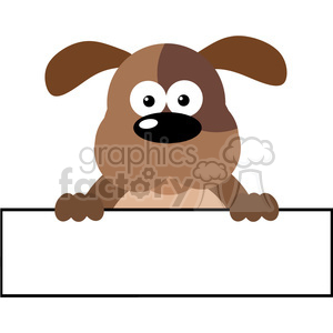 5171-Cartoon-Dog-Over-A-Banner-Royalty-Free-RF-Clipart-Image clipart. Royalty-free image # 386197