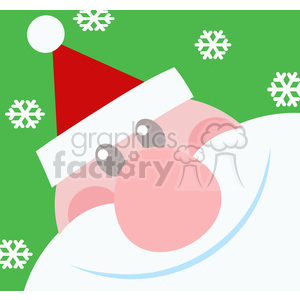 5153-Santa-Head-Royalty-Free-RF-Clipart-Image clipart. Commercial use image # 386297