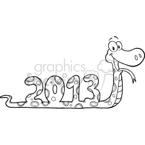 5116-Funny-Snake-Cartoon-Character-Showing-Numbers-2013-Royalty-Free-RF-Clipart-Image clipart. Royalty-free image # 386307