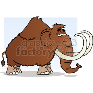 5110-Mammoth-Cartoon-Character-Royalty-Free-RF-Clipart-Image clipart. Royalty-free image # 386357