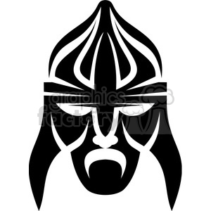 tribal masks vinyl ready art 050 clipart. Commercial use image # 386397