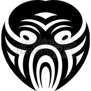 tribal masks vinyl ready art 034 clipart. Commercial use image # 386427