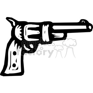 black and white revolver clipart. Commercial use image # 173671