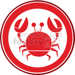 Red-Circle-Crab-Logo clipart. Commercial use image # 386493