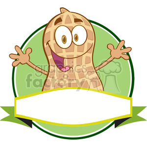 Logo Of A Cartoon Peanut Mascot Character clipart. Commercial use image # 386513