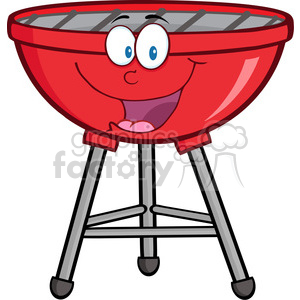 Royalty-Free-RF-Clipart-Red-Barbecue-Cartoon-Mascot-Character clipart. Royalty-free image # 386553