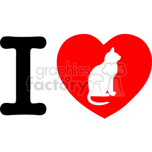 I Love Cats clipart. Royalty-free icon # 386583