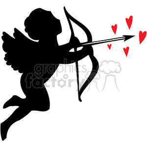 cupid with hearts clipart. Commercial use image # 386612