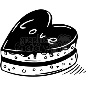 love cake black clipart. Royalty-free image # 386622
