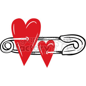 baby pin with hearts clipart. Royalty-free image # 386652