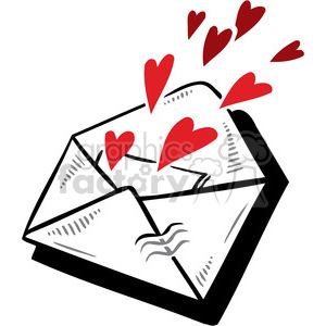 letter with love clipart. Commercial use image # 386692