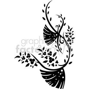 Chinese swirl floral design 004 clipart. Commercial use image # 386780
