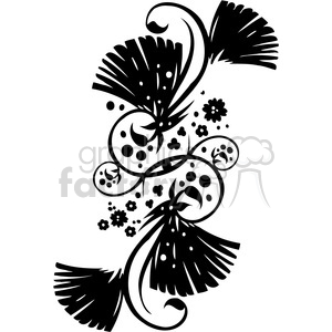 Chinese swirl floral design 008 clipart. Commercial use image # 386810